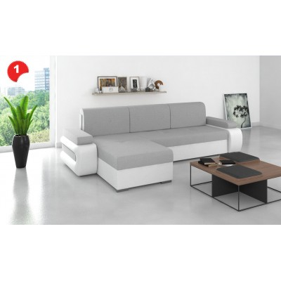 Narożnik Rogówka funkcja spania sofa