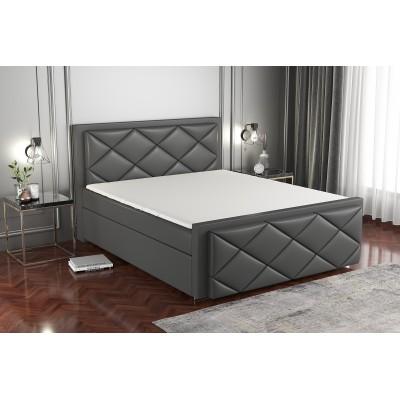 łóżko z materacem 160x200 do sypialni HERON stelaż