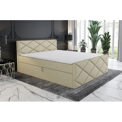 Łóżko Tapicerowane Kontynentalne LUX 120 materac