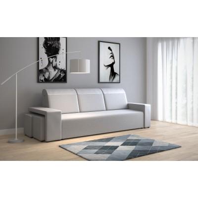 duża kanapa PARMA do salonu z FUNKCJA SPANIA Pufy