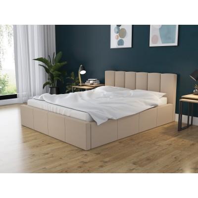 Łóżko DORI tapicerowane stelaż + pojemnik 140x200