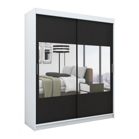 biała Szafa przesuwna z lustrem VELAR 180 garderoba