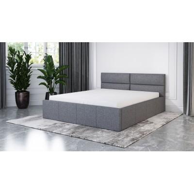 Łóżko XARO tapicerowane stelaż+pojemnik 140x200